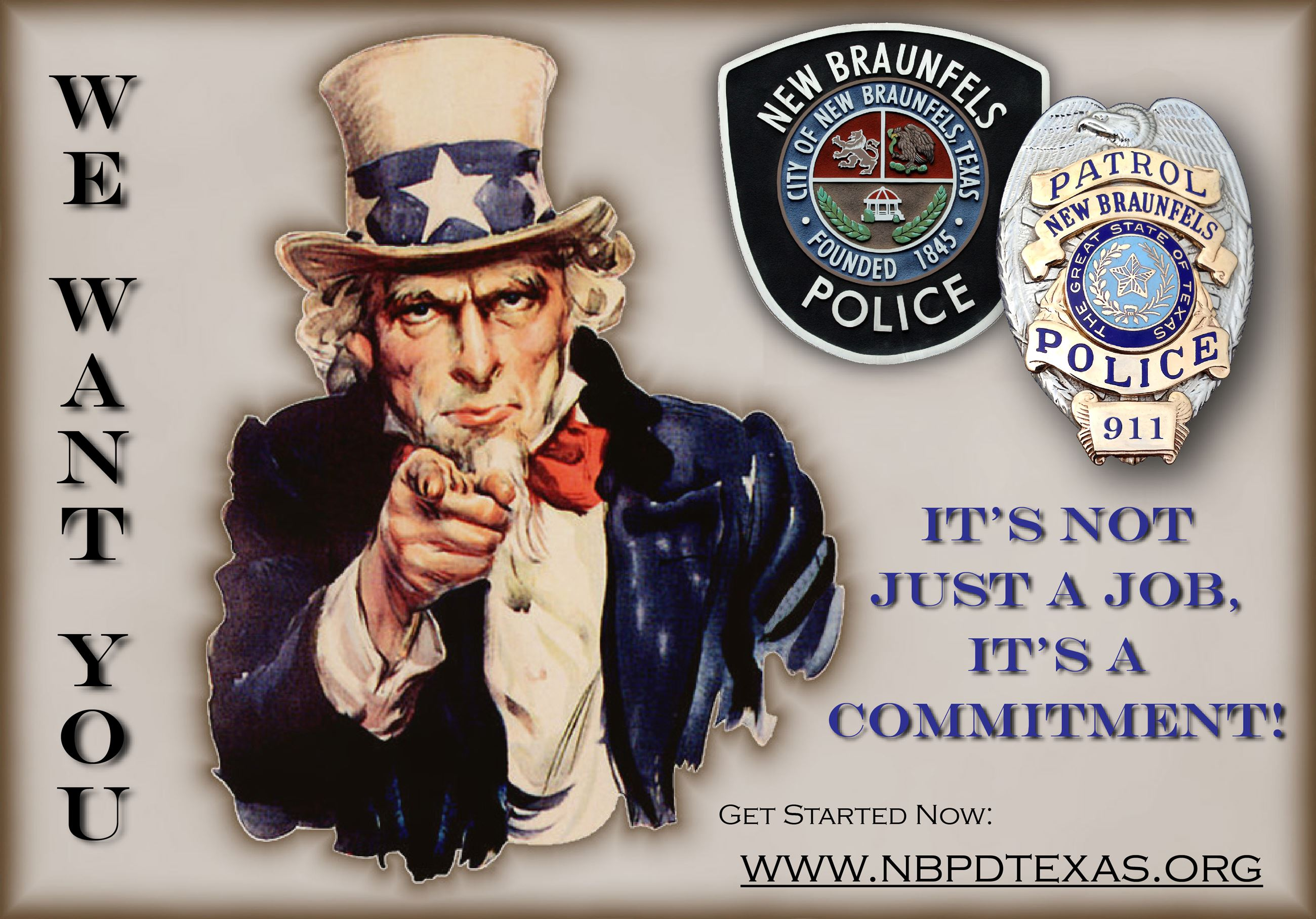 NBPD Recruiting Poster - double image