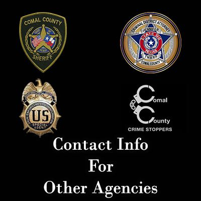 Contact Info for Other Agencies