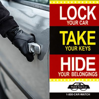 Lock, Take, and Hide: Car Burglary Prevention