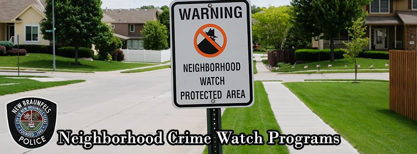 Neighborhood Crime Watch banner 1