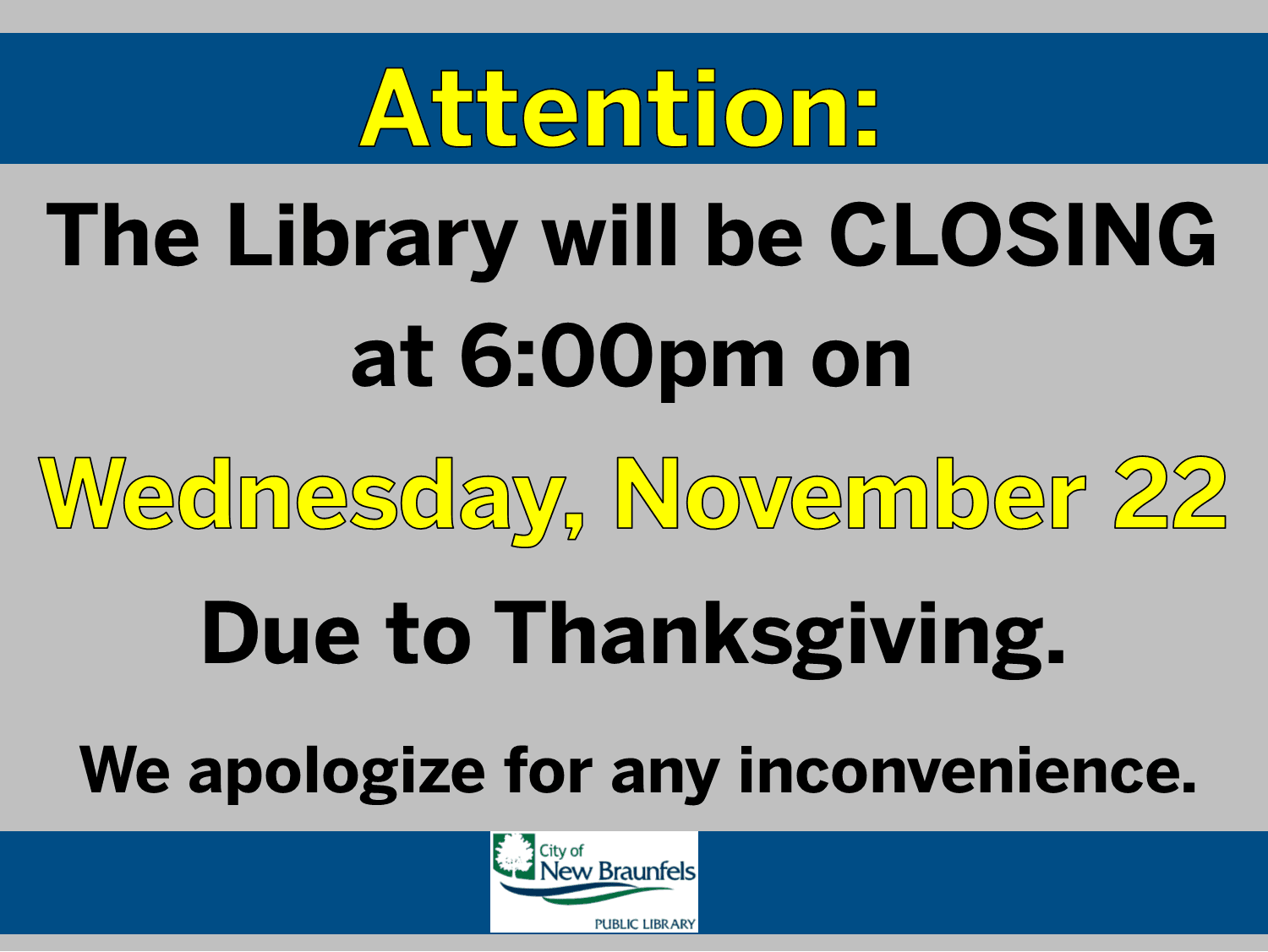 closing early thanksgiving