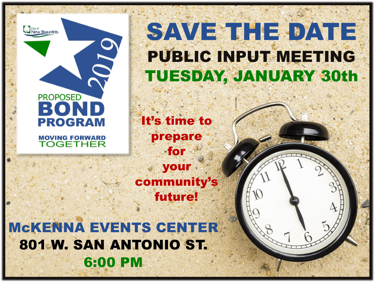 Save the Date January 30th Bond