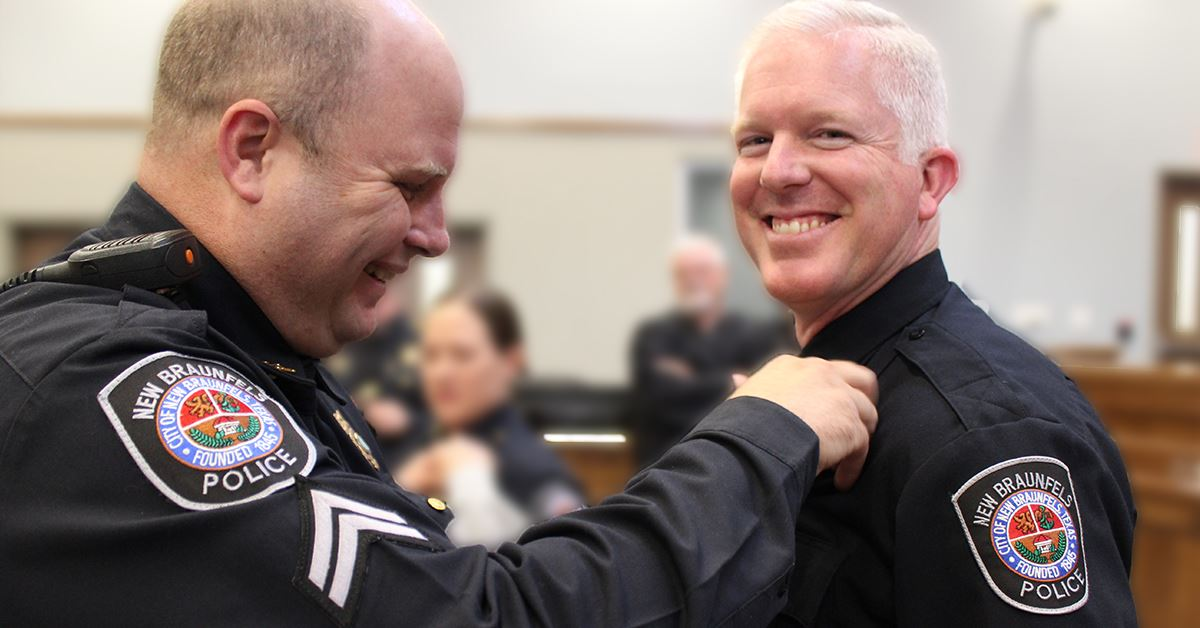 NBPD Officer Badge Pinning