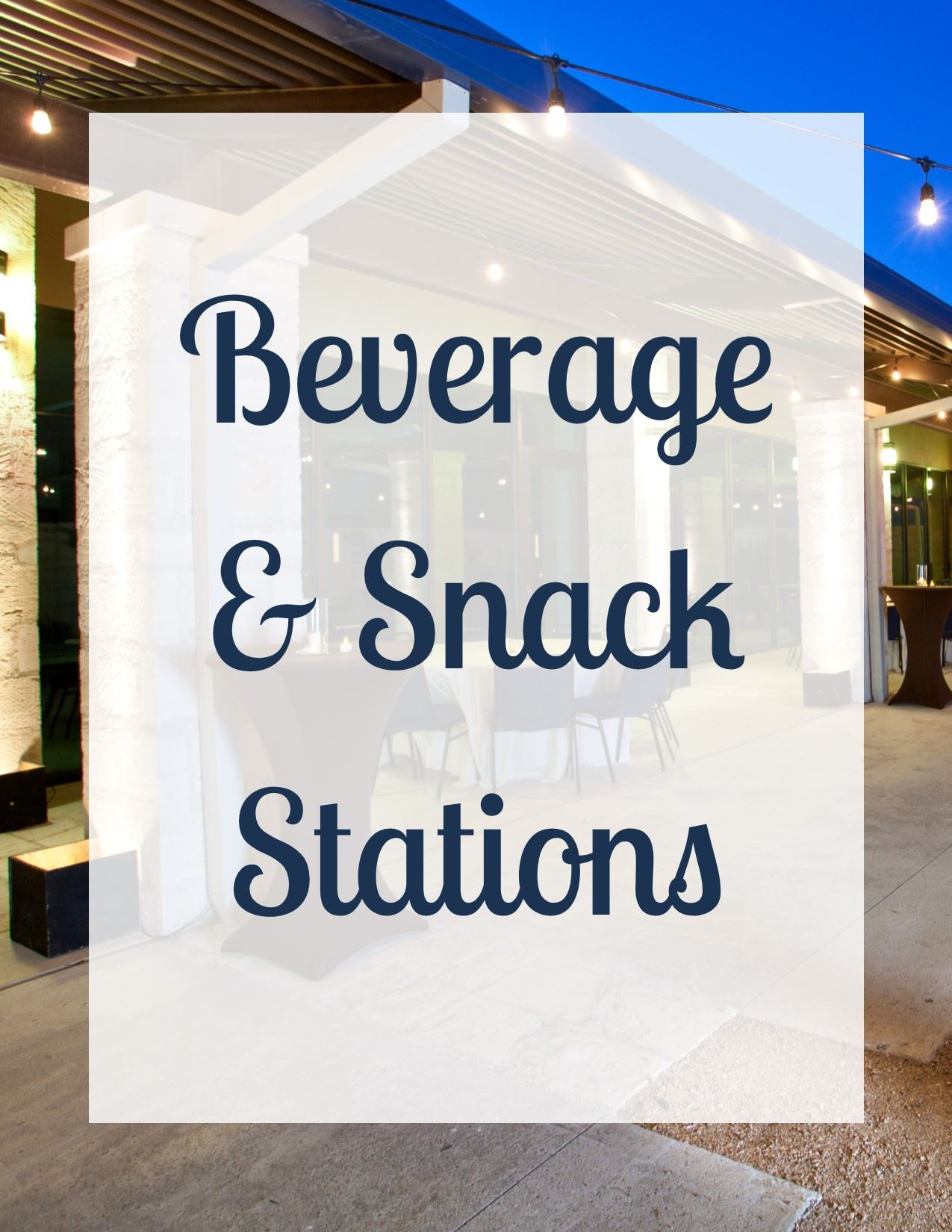 Bev and Snack Stations-Cover Page website