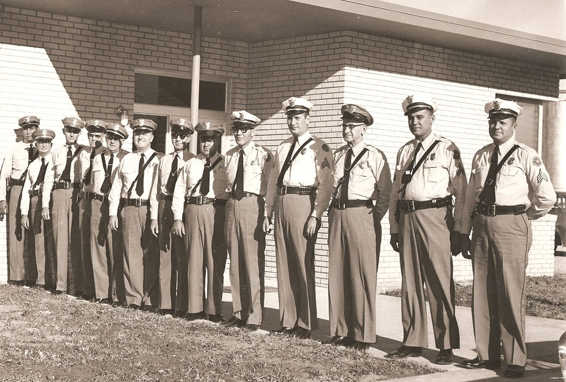 officers in front of New HQ - 1960 - clean - small
