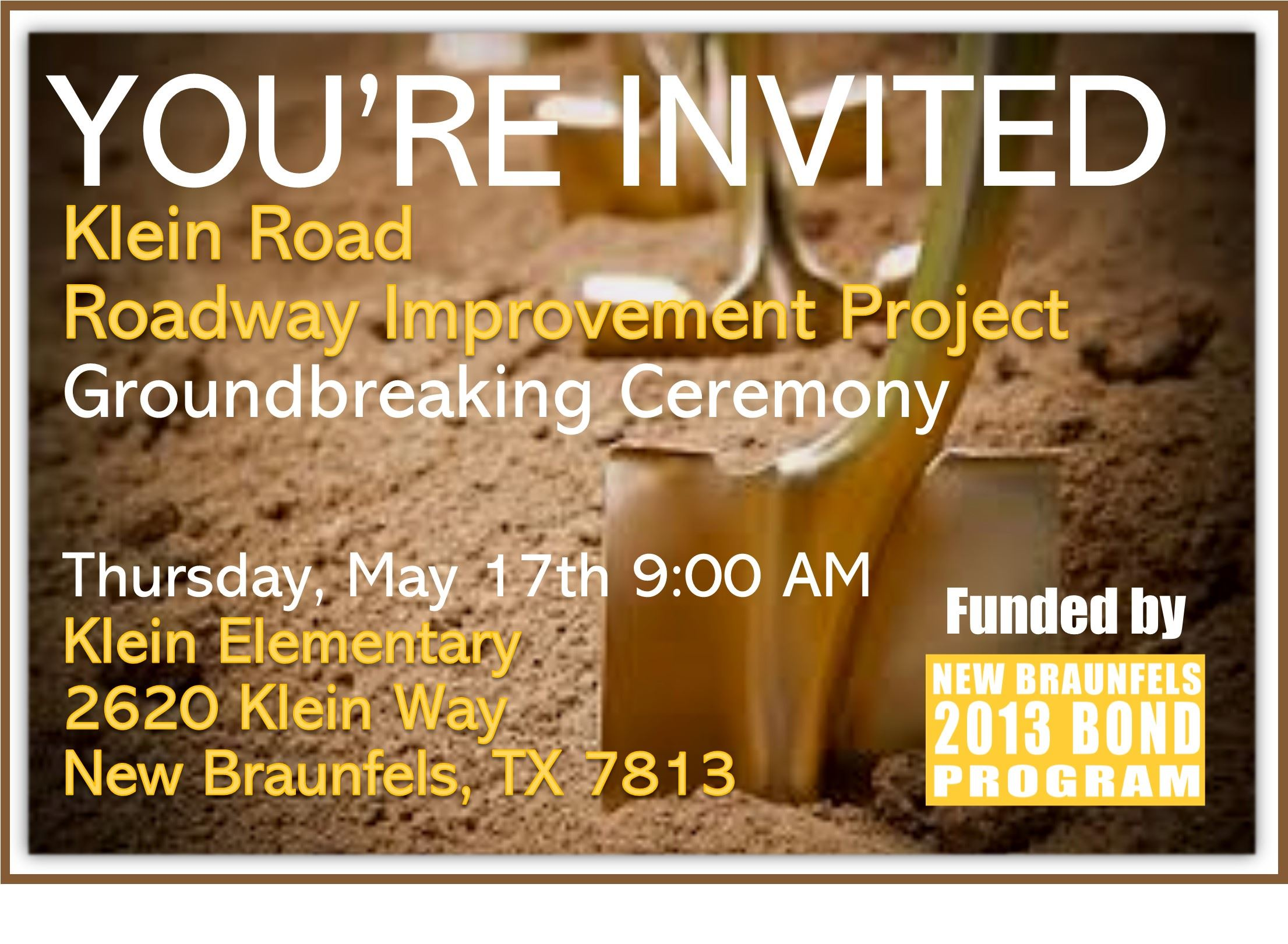Klein Road Improvements invitation