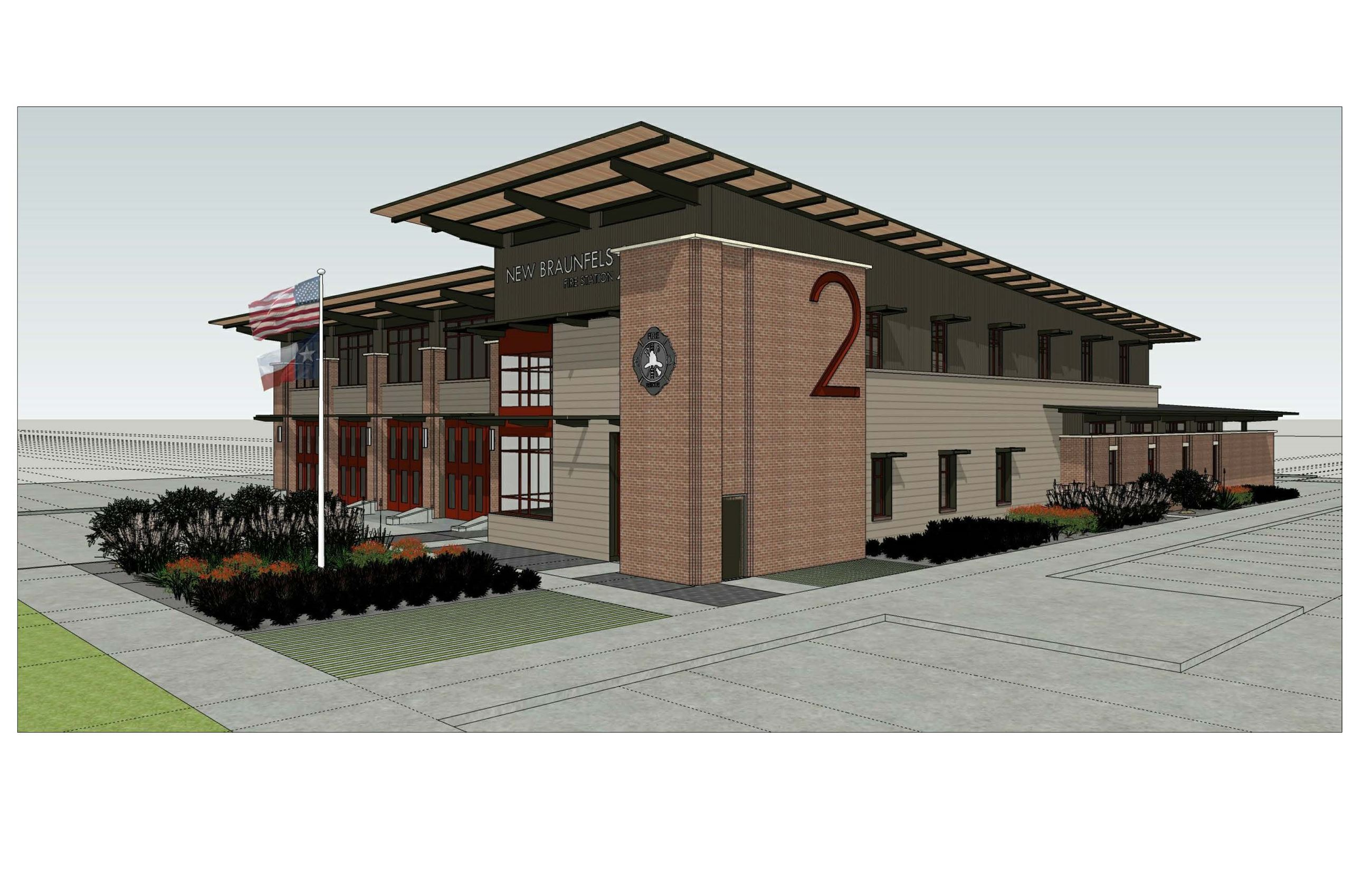 Fire Station No. 2 Rendering