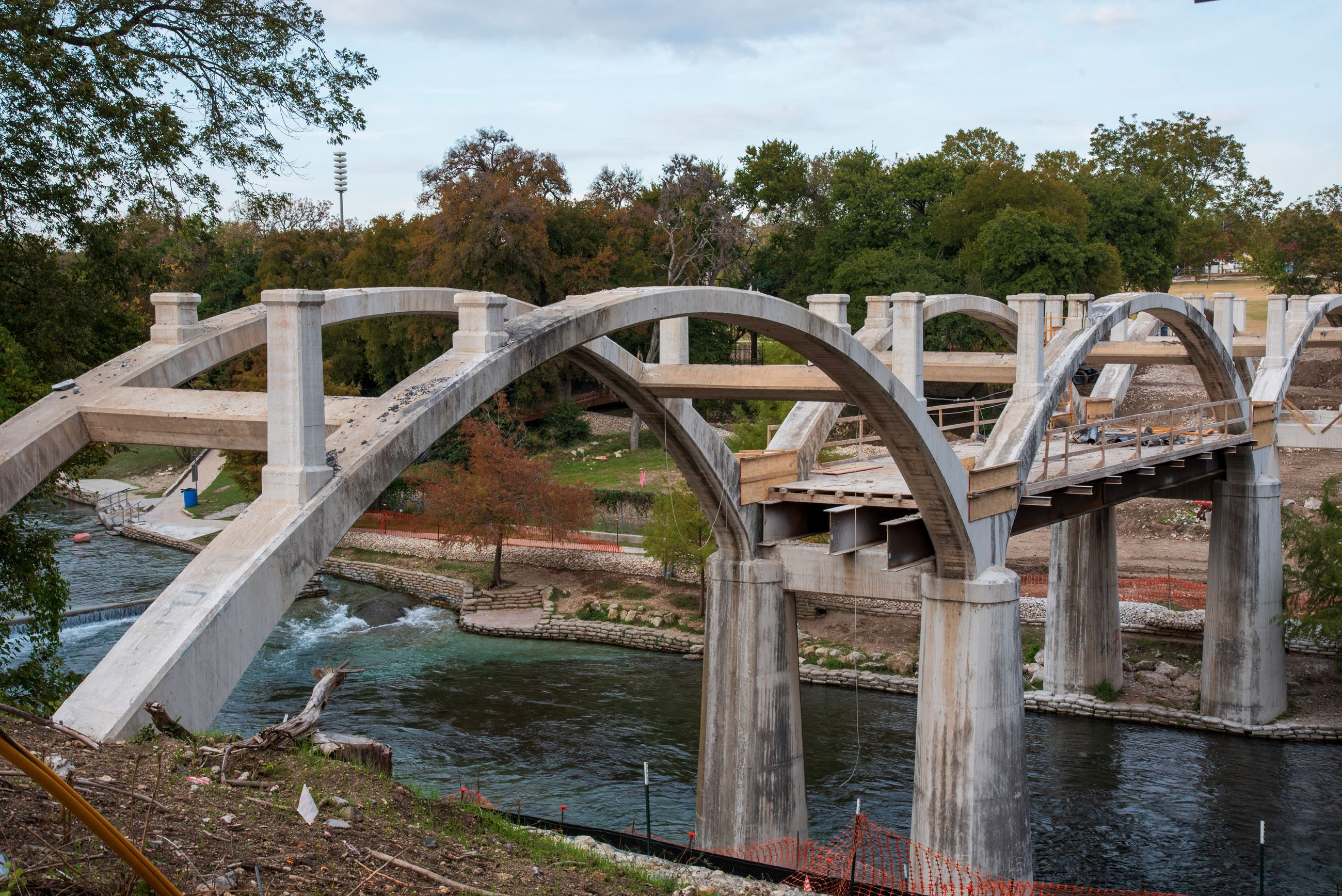 San Antonio Bridge Construction Progress