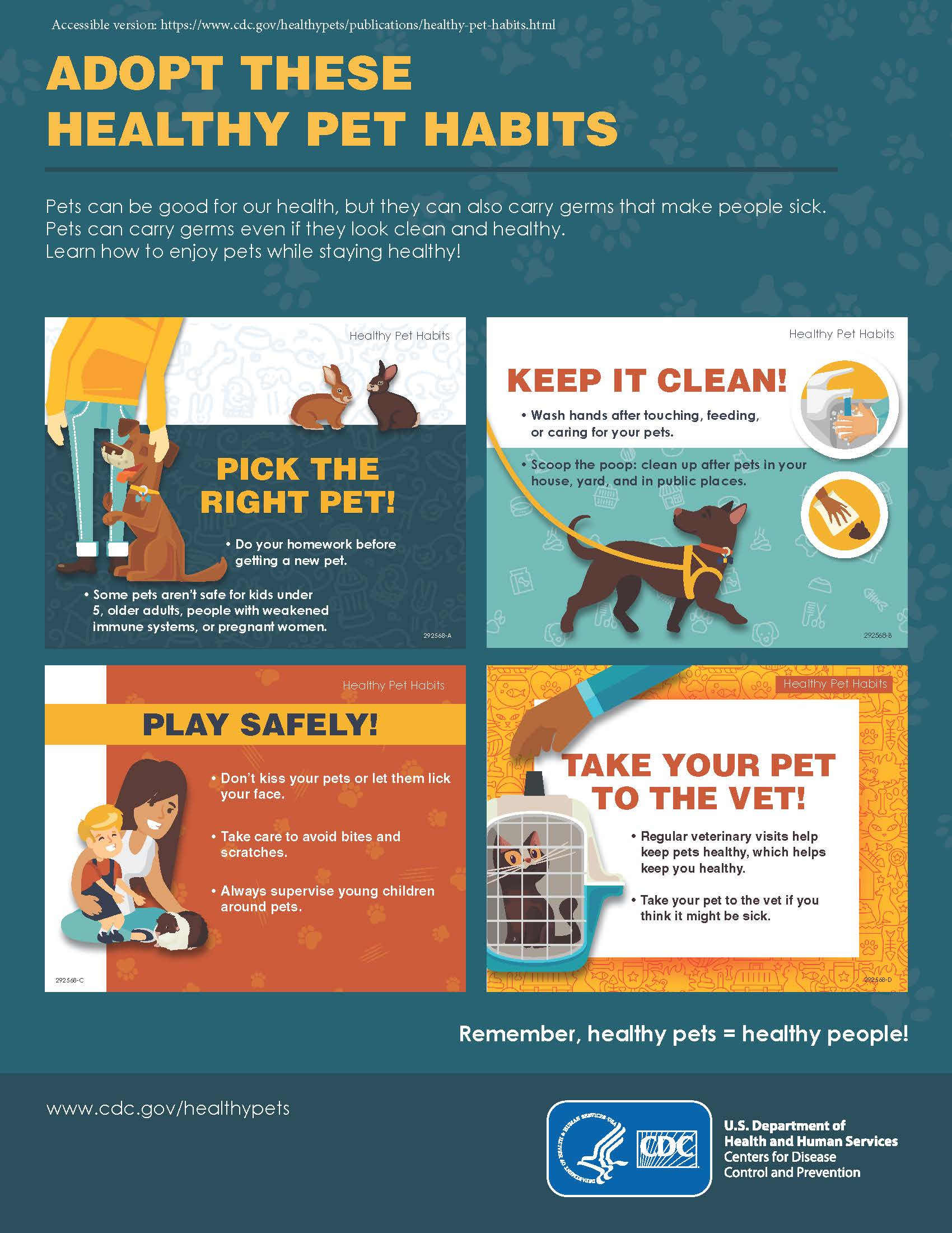 Healthy pet habits