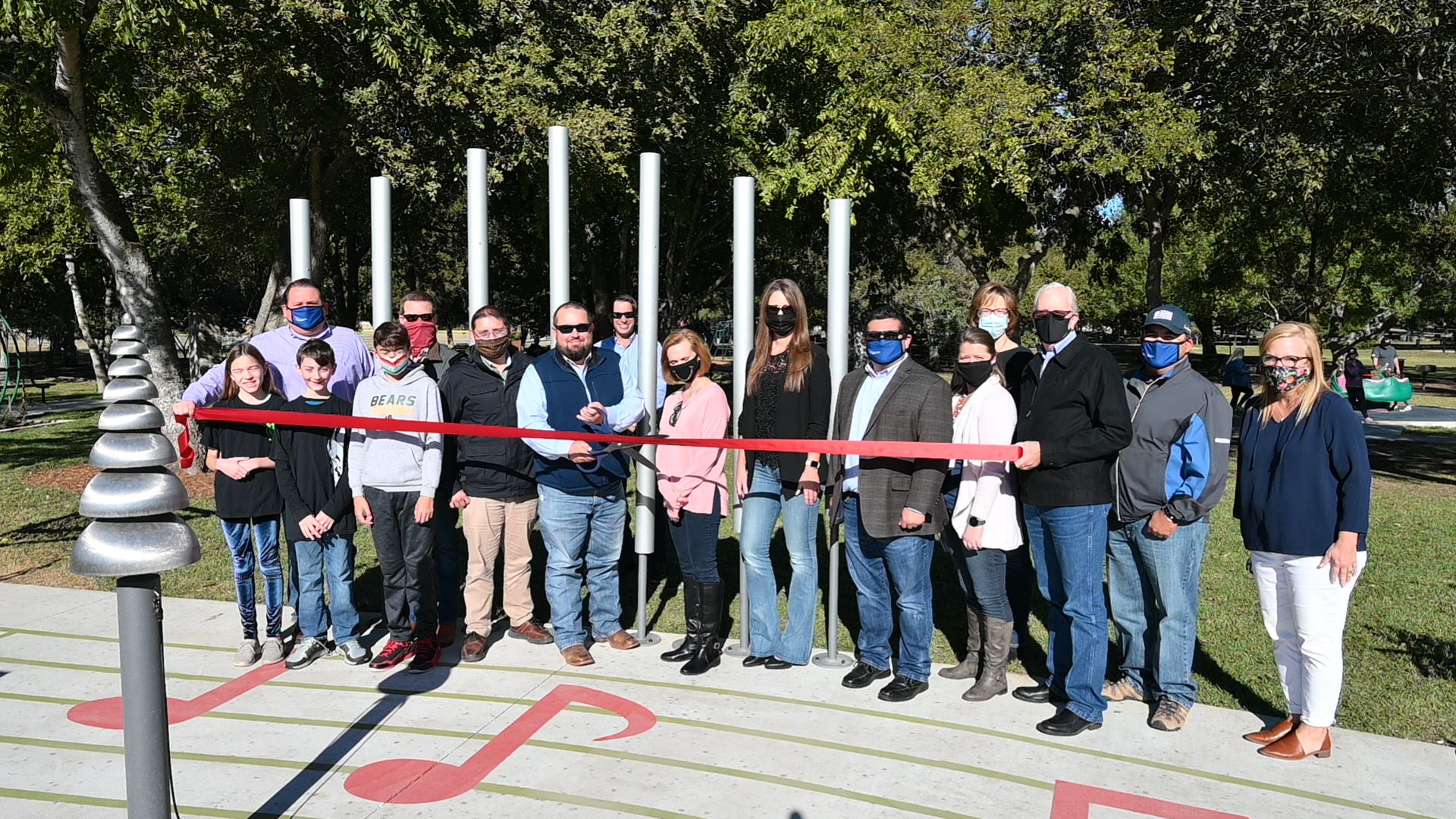 Landa Park Symphony Trail Ribbon Cutting