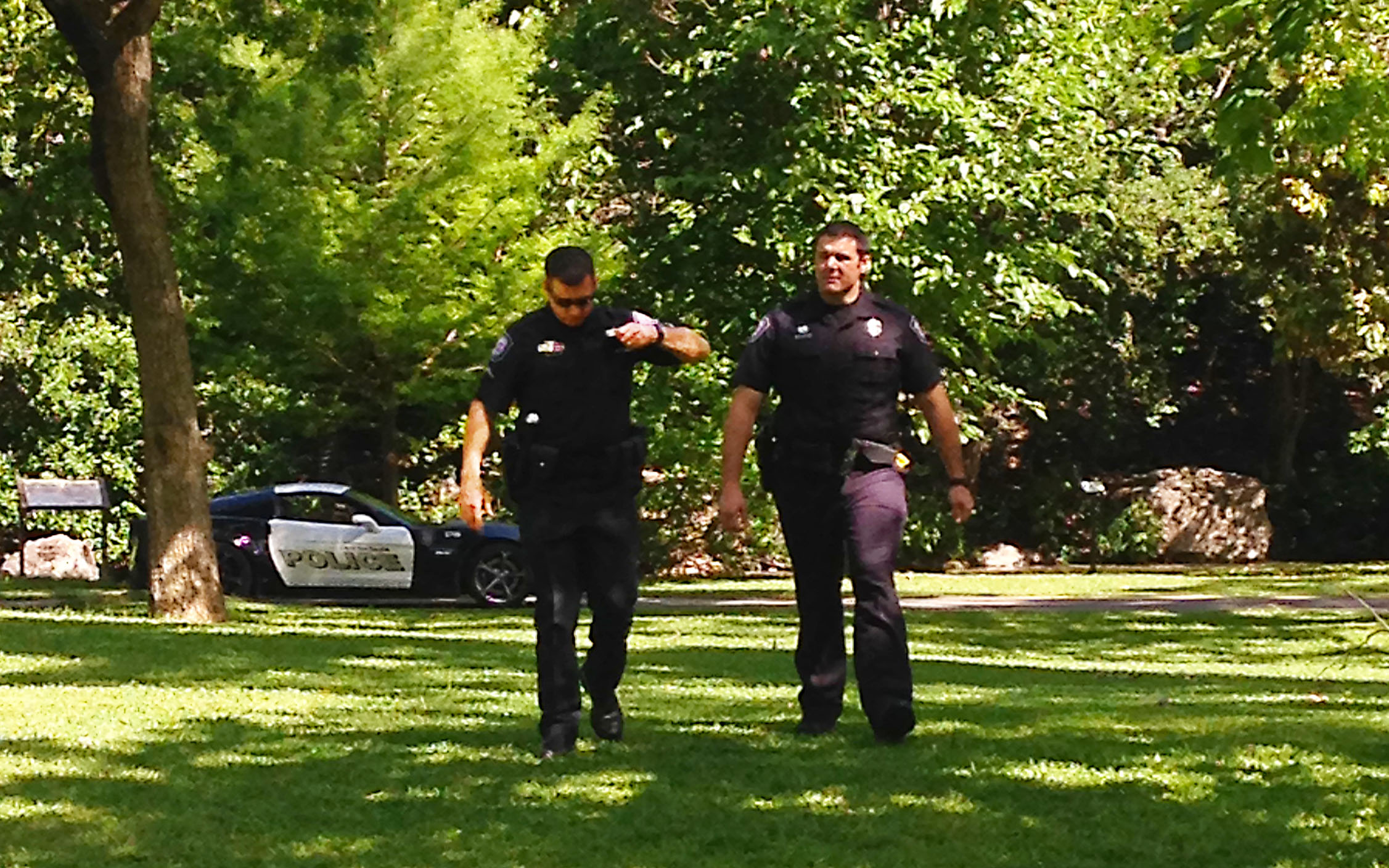 Officers in Landa Park